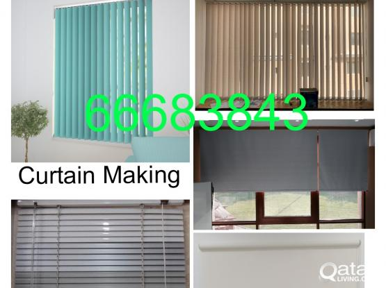 Office Curtain Roller Vertical Blinds Blackout Zebra Roller New Making & Fixing.Call Me 66683843