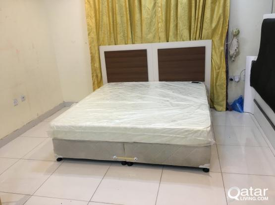 King bed with mattress for sale