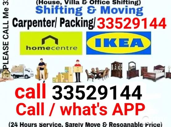 Shifting moving and carpenter.  Please call 33529144