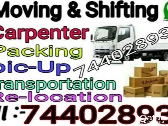 Moving..Shifting..Carpenter..Transportation service goodprice  ..call me-74402893
