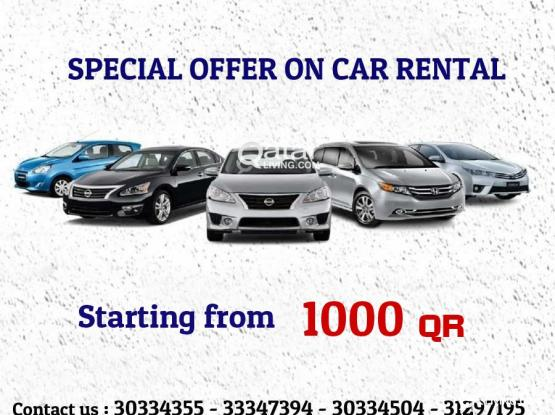 Car rental starting from 1000 QR