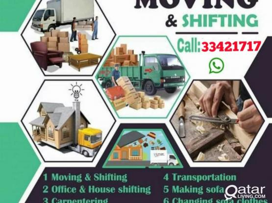 Best Price Moving & Shifting Company. All kinds of House, office,Villa, Hotel, Showroom,Carpenter,Stor,Working Good. Any Where in Doha. Call & WhatsApp:-974-33 42 17 17. Any Time Work Service 24/7 hour..