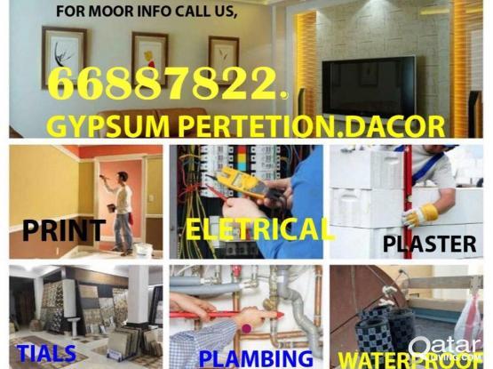 Plumber/Electrical/gypsum work management 66887822