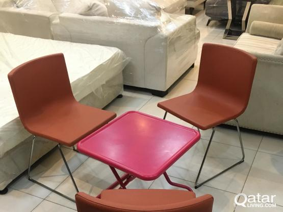 For sell ikea 3 Leather chair and table