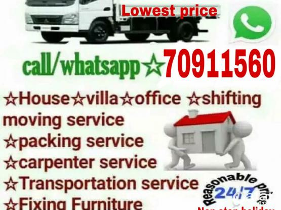 Lowest prices- Moving shifting Carpenter transport services please call me-70911560
