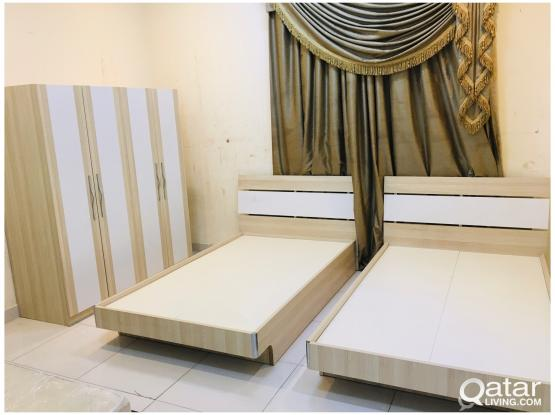 For sell 2 Bed and 4 Door wardrobe