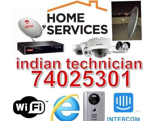 Airtel dish antenna installation and maintenance call 74025301 etc