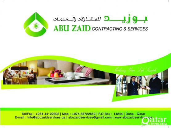 ANNUAL MAINTENANCE SERVICES= ABU ZAID CONTRACTING & SERVICES 974:-55722652