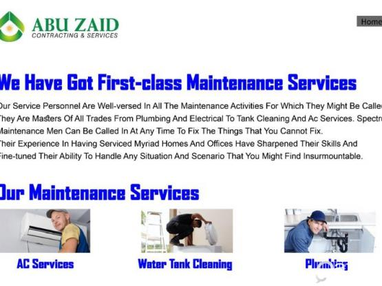 ANNUAL MAINTENANCE SERVICES= ABU ZAID CONTRACTING *Platinum*Gold*Silver 55722652