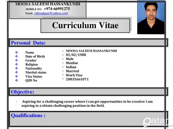 I am looking for job SANDWICH,BURGER,JUICEMAKER Mob: 77991275