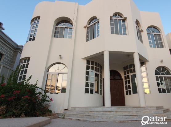 7 BHK Semi Furnished Villa for Family or Ladies staff in Nuaija with private Swimming Pool.