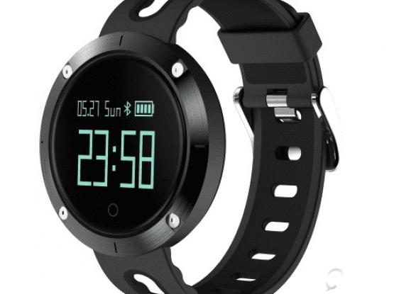 DM58 Smart Band Bluetooth Sport Watch Wristleband Bracelet 0.95 inch OLED Large Round Display – Blac
