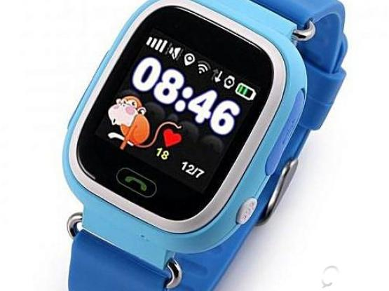 Q90 Kids Smart Watch GPS LBS Double Location Safe Children Watch Activity Tracker SOS Card-Blue