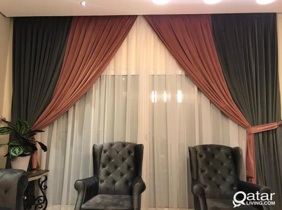 All Curtains,,, Wallpaper ,,, P.V.C for floor,,,, Carpet Etc.....All Kinds of works. MOB : 33826073
