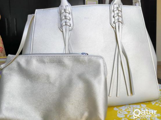 Charles & Keith Handbag Gold brand new