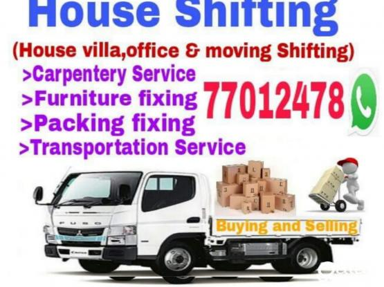 Good prices- Moving, shifting-packing Call-77012478 House,villa,office Furniture and Transportation