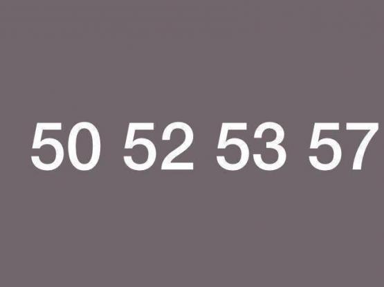 STILL AVAILABLE.  50 52 53 57 = 5