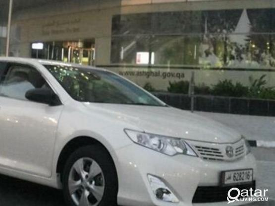 car with draiver available toyota camery 2014 call 70087275