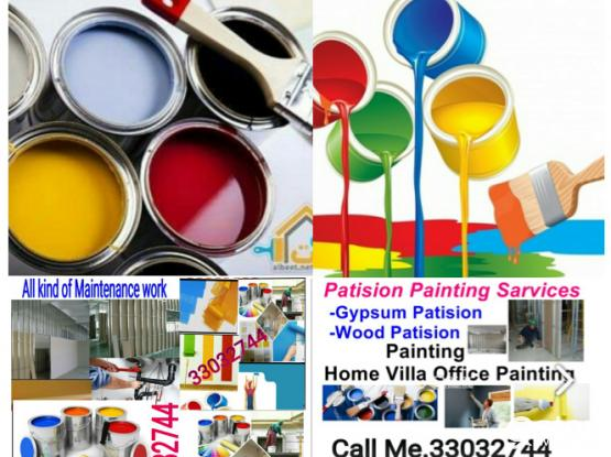 All kinds of maintenance. Painting, Gypsum partition, Plumbing,   Call.33032744