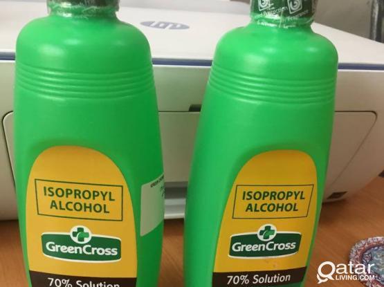 green cross alcohol  70%