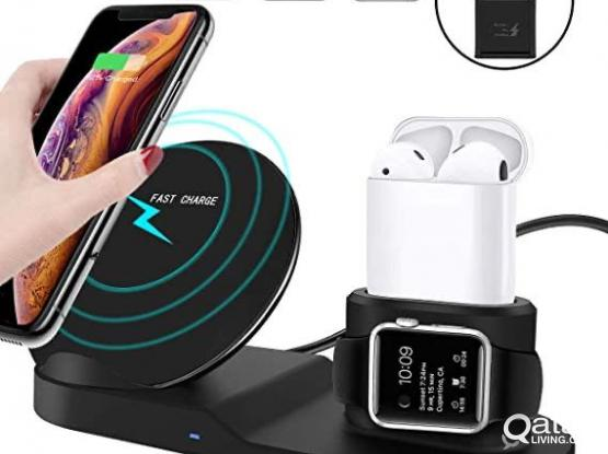 Iphone 3 in 1 Dock wireless Fast charger
