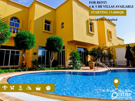 Luxurious Villa 4 Bedroom at Al Waab - Abu Sidra (No Commission Applied)