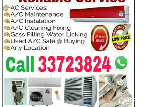 Good Price, qatar All, A-C  Fixing and Servicing & Gas Filling, Ac Buying & Selling Call WhatsApp 33723824