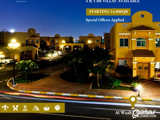 Luxurious Villas 4 & 5 Bedroom at Al Waab - Abu Sidra (No Commission Applied)