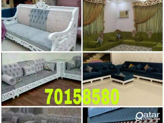 We are doing all type sofa/Carpet sell/curtain making repairing/sofa cloth change with fixing please call me- 70158580