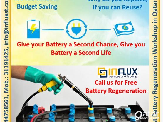 Regenerate Reuse old battery at very low cost