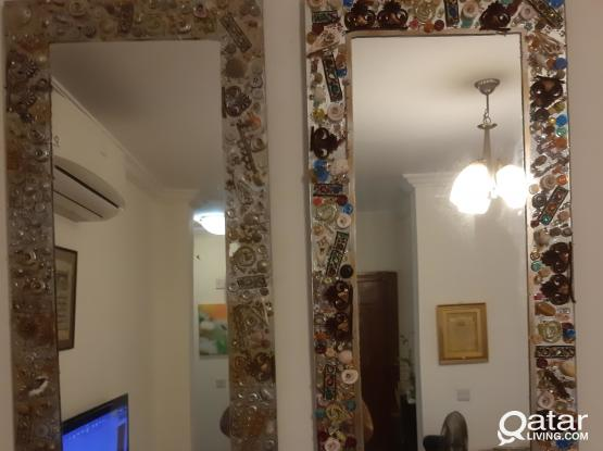 Wall Mirror hand made decorated