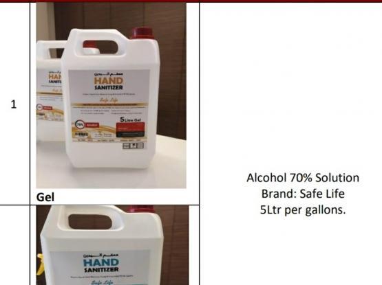 Hand Sanitizer Gallon 5LTR