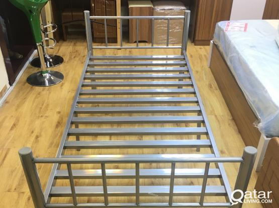 BRAND NEW SINGLE BED SILVER FOR SALE - PH: +97477850533
