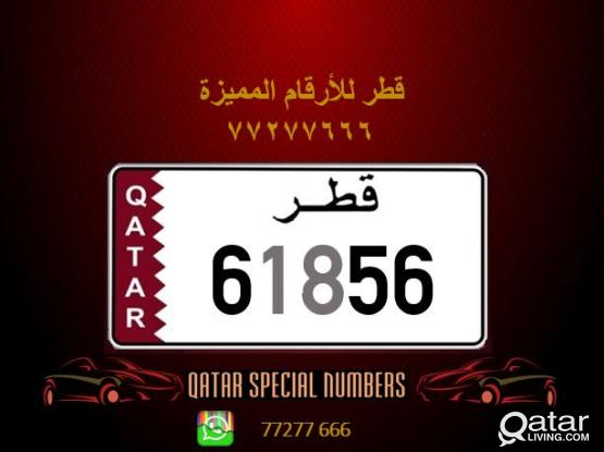 61856 Special Registered Number