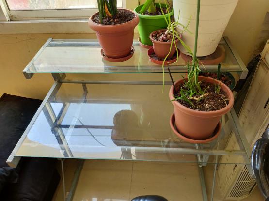Elegant computer desk metal & glass (free delivery