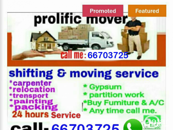 Moving&shifting good price call me&whatsapp66703725
