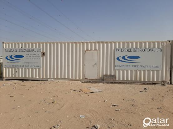 WATER DEMINERALISED PLANT USED 2 X 40FT CONTAINERS