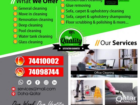 Cleaning Service at Affordable price - Call On +97474410002