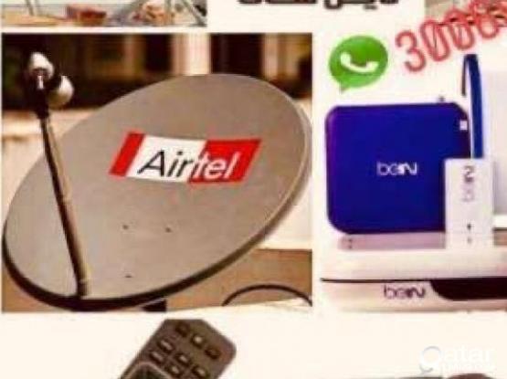 Airtel Satellite Dish Tv Internet Wifi Install Rep