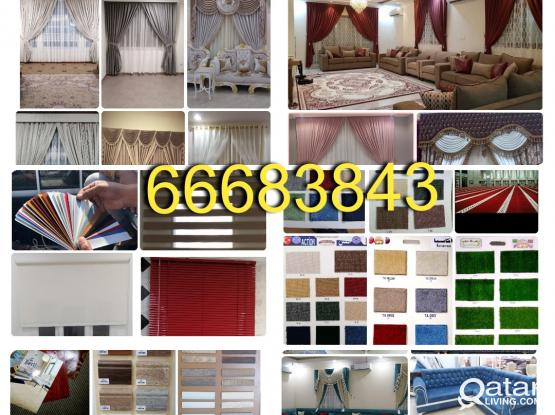 Window Curtains,Carpet,Plastic Pvc Parquet Vinyl Flooring Wallpaper Arabic Sofa Blackout Roller New Making Repair & Fixing. Call Me 66683843