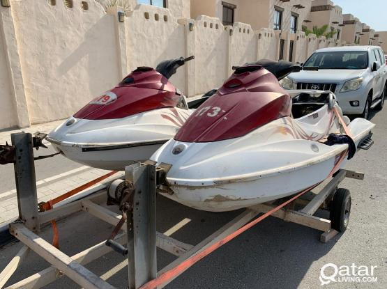 2  Sea-doo GTI 130 and double trailer