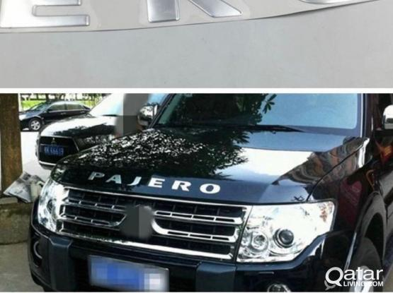 Pajero hood chrome sticker for sale 350/-