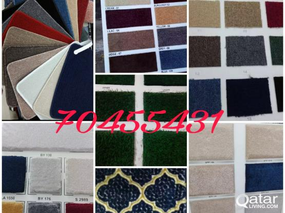 Fixing and Selling Carpets, Blinds, Grass carpet, Curtain, Wallpaper design. Carpet Tiles.70455431