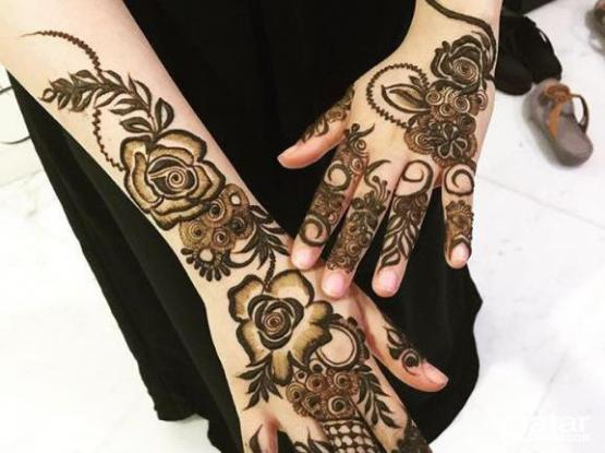 Henna, Makeup and Hairstyle for ladies