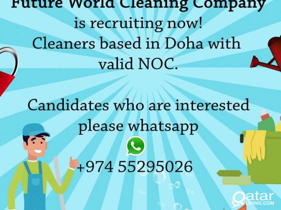 WE ARE HIRING CLEANERS
