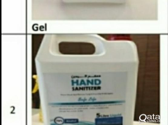 GEL & LIQUID Hand Sanitizer 5 LTR