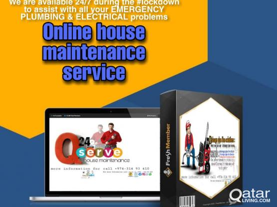 Electrical plumbing house maintenance 24hr  service in qatar