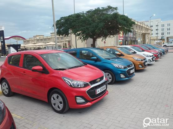 CHEVROLET SPARK -2020 MODEL  AVAILABLE  FOR RENT !DAILY QAR.50 !! CALL US NOW:- 44182020/50399151/31696859
