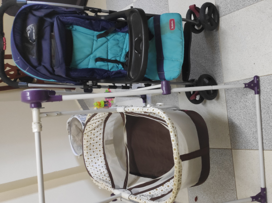 Baby stroller and toddler swing