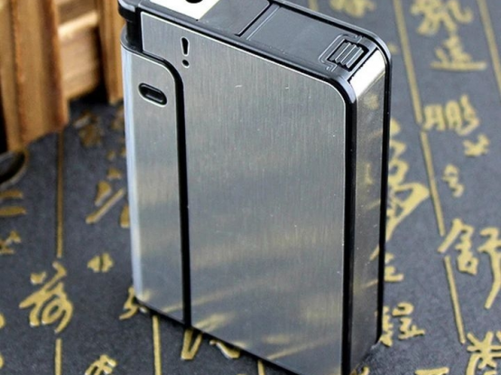 Cigarate box with lighter